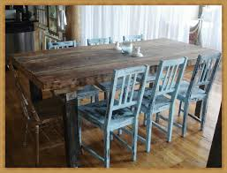 decor lovely rustic dining room table in rectangle wood matched