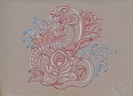 snake and roses sketch by a t g 4 on deviantart