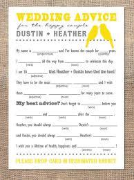 wedding advice cards advice cards
