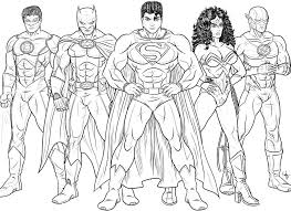 justice league coloring pages print coloring