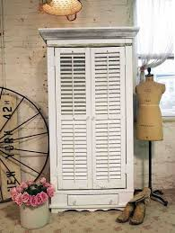 Shabby Chic Shutters by Painted Cottage Chic Shabby Farmhouse One Of A Kind Shutter Cabi