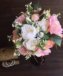 wedding flowers keepsake pink and white silk bouquet stunning wedding bouquet