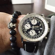 black bead bracelet with charm images The lion charm black onyx bead bracelet by veza breitling watch jpg
