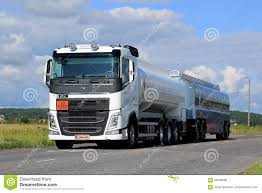 volvo haul trucks for sale white volvo fh tank truck adr on summer road editorial image