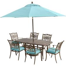 Patio Furniture Dining Sets With Umbrella - blue umbrella patio dining furniture patio furniture the