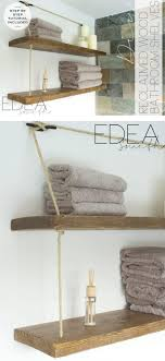Hanging Bathroom Shelves Bathroom Rope Shelves Pottery Barn Industrial Pipe And Rope