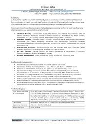 Professional Resume Writers In Delhi Professional Resume For Experienced Business Analyst Technical Writer