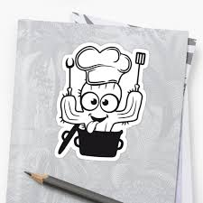 Kitchen Cactus Comic Cactus Saucepan Soft Cook Restaurant Chef Hat Pancake Fork