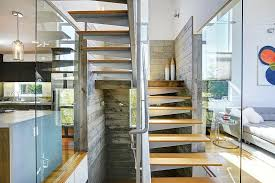 Modern Staircase Wall Design Contemporary Staircase With Floating Staircase By The Noel Team