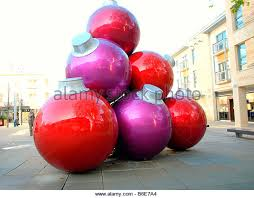 giant christmas baubles in shopping stock photos u0026 giant christmas