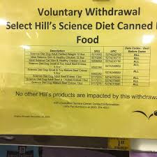 voluntary withdrawal hill u0027s science diet canned pet food u2013 truth