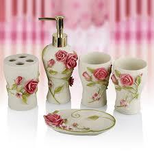 Porcelain Bathroom Accessories Sets Pale Pink Bathroom Accessories Pink Bathroom Ideas Ceramic