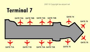 lax gate map los angeles international airport terminal 7