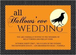 halloween wedding invitations u0026 halloween wedding invites