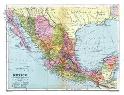 Mexico Political Map by Large Detailed Old Political And Administrative Map Of Mexico With
