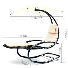 chaise hanging chaise lounger chair arc stand air porch swing