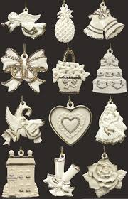 lenox wedding wishes 12 ornament set at replacements ltd