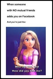 Tangled Meme - disney tangled movie meme when someone with no mutual friends