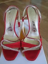 Rhinestone Sandal Heels Magrit Red Swarovski Elements Rhinestones Sandals Heels Shoes Size