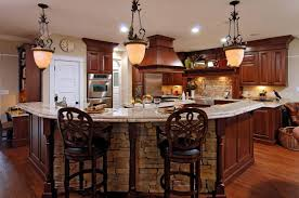 kitchen colors with cherry cabinets brown wooden laminate flooring