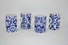 Porcelain Coffee Mugs Three Star 4 Piece Floral Coffee Mugs Set U0026 Reviews Wayfair