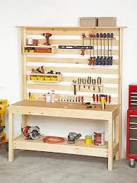 Wood Storage Rack Woodworking Plans by Workbench With Wall Storage Woodworking Plan Workshop U0026 Jigs