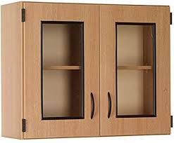 oak kitchen wall cabinet with glass doors wall display cabinet with framed glass doors
