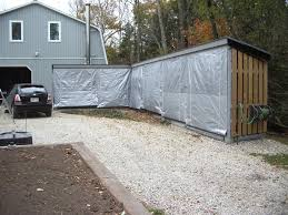 Covered Garage That Looked Pretty Nice Until You Covered It With A Tarp Wood