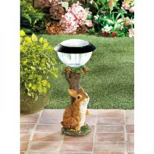 bunny solar light garden path lighting rabbit statue yard lighted