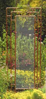 trellis made out of copper pipe wire mesh