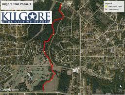 kilgore map kilgore trails system phase 1 city of kilgore