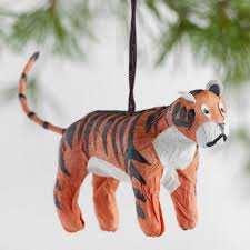 paper safari animal ornaments set of 6 world market