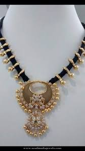 black gold necklace jewelry images Black gold dori necklace south india jewels jpg