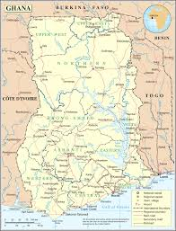 Map Of Ghana Africa by Ghana Map Blank Political Ghana Map With Cities