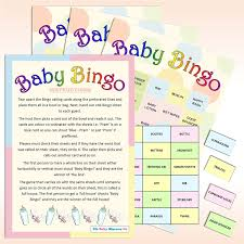 20 sheet baby shower bingo neutral amazon co uk toys u0026 games
