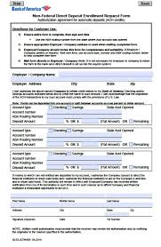 direct deposit form chase business form templates