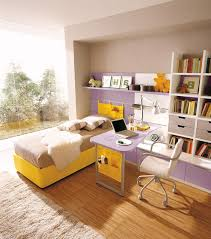 kids room decoration modern study room for kids with white brick