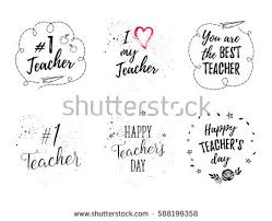 best s day cards happy teachers day labels greeting cards stock vector 588199358