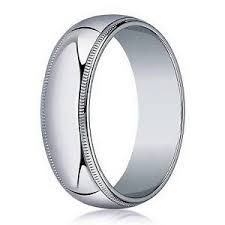 10k white gold wedding band designer 4mm traditional fit milgrain 10k white gold wedding band