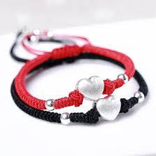 red friendship bracelet images 925 sterling silver love heart friendship bracelet zenheavens jpg