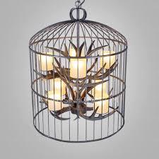 Metal Antler Chandelier 8 Light Birdcage Shaped Outdoor Antler Chandelier
