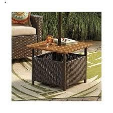 umbrella stand side table patio umbrella stand table new wicker umbrella side table patio