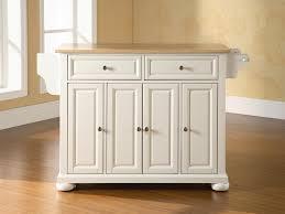 kitchen 11 white kitchen with dark portable kitchen island on