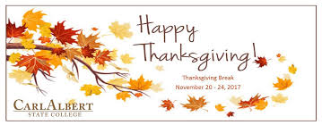 happy thanksgiving carl albert state college