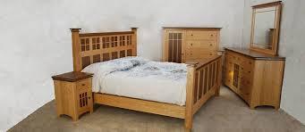 Oak Bed Set Oak Walnut Bedroom Set De Vries Woodcrafters