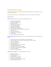 Planning A Wedding Ceremony Wedding Ceremony Music Order Tbrb Info