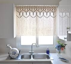 modern kitchen curtain ideas white laminate flooring brass hanging