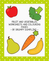 grumpy dumpling fruit and vegetables worksheets freebie