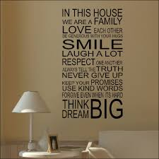 Family House Rules by Family Home Quote Rules Vinyl Wall Art Sticker Mural Decal Home