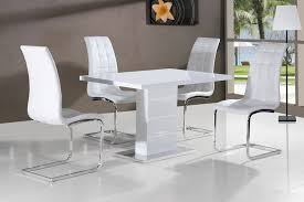 Gloss White Dining Table And Chairs Charming Dining Luxury Table Set Room Tables As White In